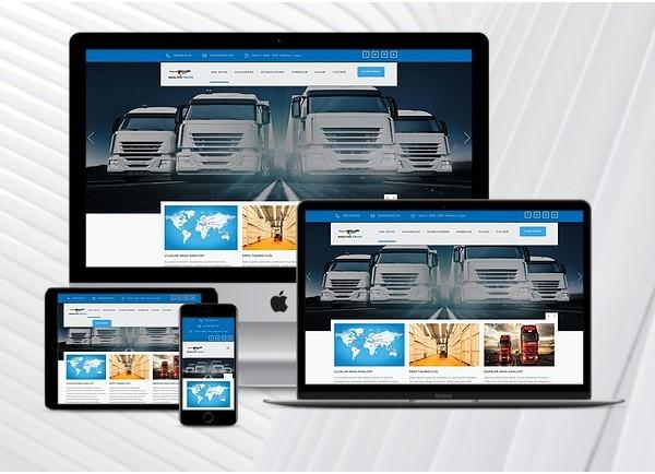 Nakliyat / Lojistik Web Paketi Truck v2.5