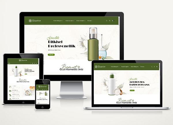 E-Ticaret Kozmetik Paketi Beautico v4.0