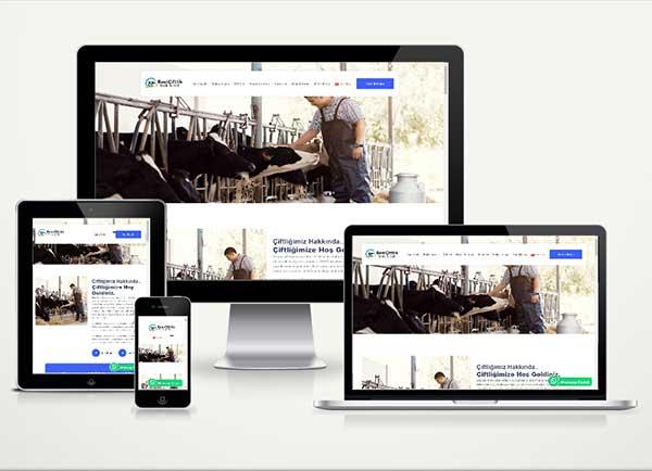 Besi Çiftliği Web Sitesi Paketi Cow v4.5