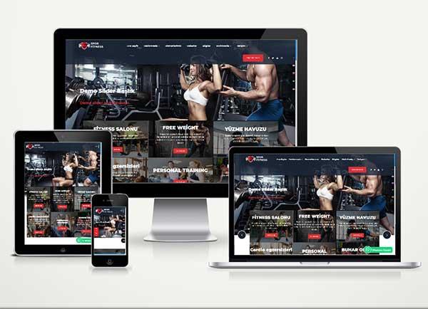 Spor Salonu ve Fitness Web Paketi Soccer v4.5