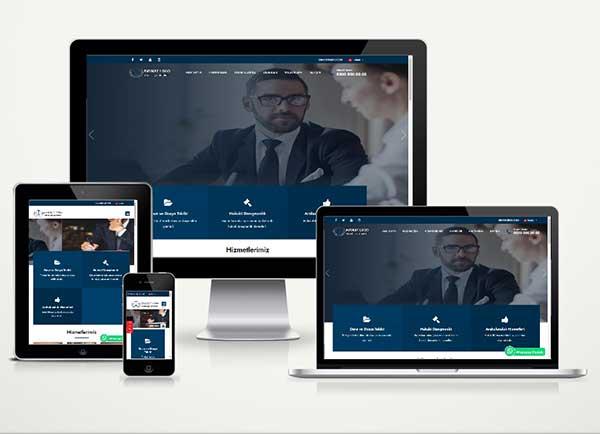 Avukat Web Sitesi Paketi Lorem v4.5