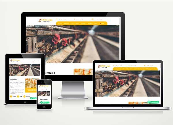 Çiftlik Web Sitesi Paketi Chicken v4.5