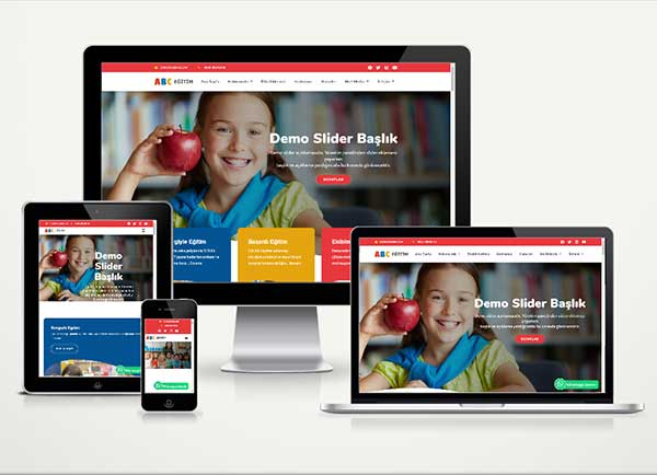 Kreş Anaokulu Web Sitesi Paketi Abc v4.5