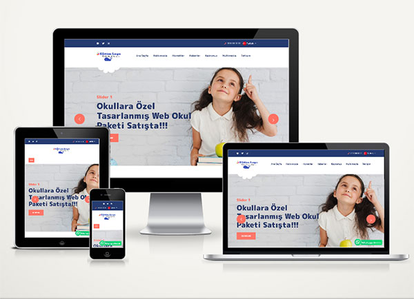 Kreş / Eğitim Kurumu Web Sitesi Paketi Nurs v4.5