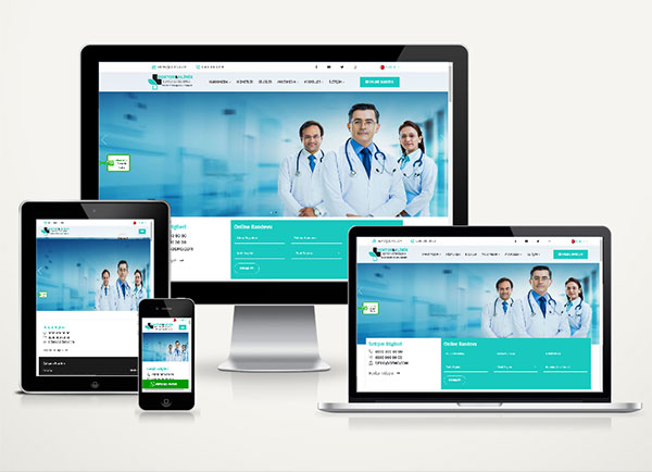 Doktor / Klinik Web Sitesi Paketi Care v4.0
